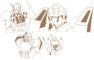 [TF+Brave Police]More doodles by KusuKitty