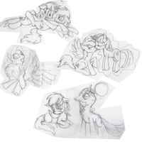 TwiDash sketchdump 01 by NuclearKitsune
