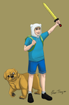 Jake the dog and Finn the human by rare-thing