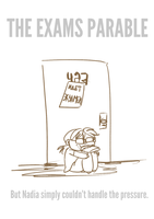 the exams parable by ND-painter