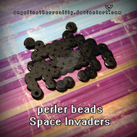 Perler Beads Space Invader by angelicetherreality