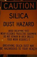Silica Hazard Sign by Moon-WillowStock