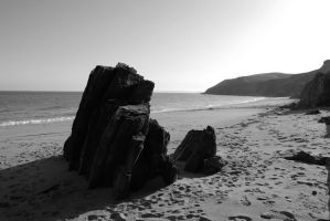 Porthbeor afternoon by Puckmonkey