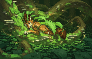 The Fern Sleep by Shadow-Wolf