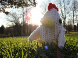 Crocheted Chicken by Mickeycricky