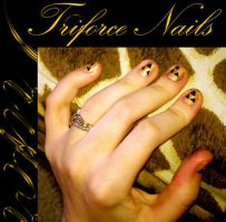 Triforce Nails by Nummonkee