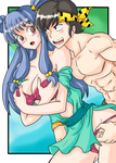 Commission of Ryoga and Shampoo by Ray-D-Sauce