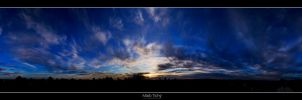 Sunset above Ivanka VII. by roehunter
