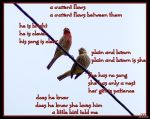 Birds on a Wire w poem by FeMailleTurtle