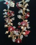 Red Ruby Crystal Dangle Bracelet by Binkees-Baubles