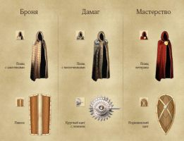 Armor sets for browser game by Vadich