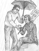 Helping the Hobo by Green-Bird