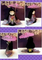 Gift: 3D Origami Maiko - purple by mihijime