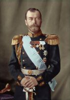 Tsar Nicholas II in uniform by KraljAleksandar
