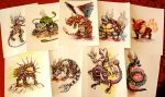 Steampunk Pokemon Watercolor Paintings for Sale! by jbrenthill