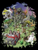 Jurassic Park tribute by Manidiforbice