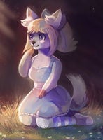 Local Dog Goes Awoo by Xishka