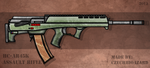 Fictional Firearm: HC-AR45k Assault Rifle by CzechBiohazard