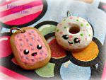 Kawaii Poptart and Donut Charms by Insane-Oasis