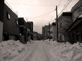 a residential area in winter by Akira-H