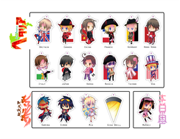 AniMagic Convention Keychains by MuEnLi