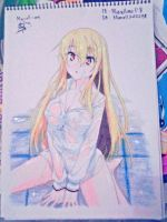 simple art shiina mashiro by marcell240298