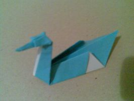 Origami: Paper Swan by saria-the-elf