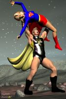 Nuclear Man v Supergirl by CaptainZammo