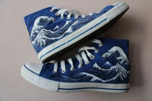 Hokusai custom kicks by Nyamesiss