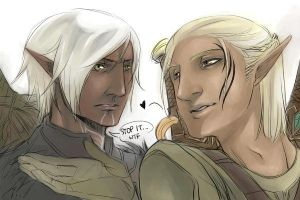 Zevran and Fenris - DA2 by ivory-dusk
