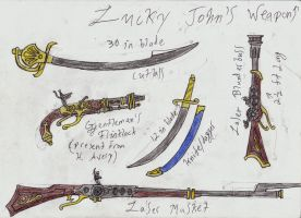 Lucky John's Weapons by Edward-Smee