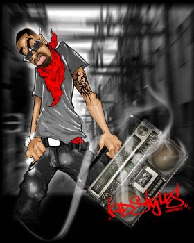 K.S. Boombox throwback by KidStyles