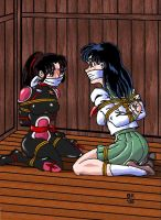 Kagome And Sango by GrouchoM