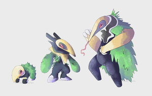 Fakemon Grass Starter by Weyard
