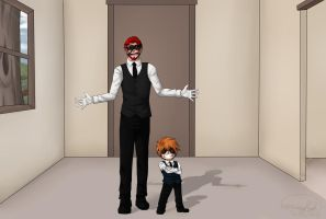 Funking father and son by ZeCrazyAngel