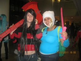 Fionna and Marceline by chaoticlatina