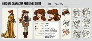 OC Reference Sheet - Judith by Zippora