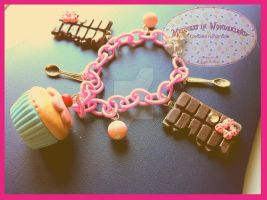 Cupcake and chocolates! - Sweet bracelet by Cupcakesarekawaii
