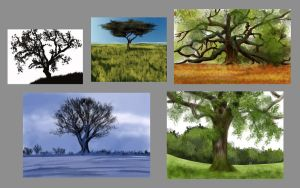 Five Trees - Daily Practice by Olooriel