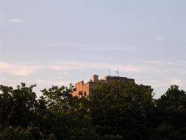 building on a hill by trip-tych