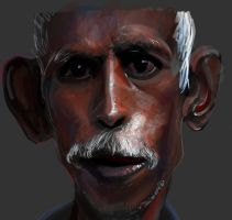 old guy painting by le-mec