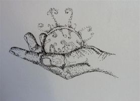 Pointillism - Hand of Light by carriephlyons