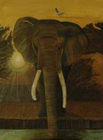 African Elephant by DonnaHanlonArtist
