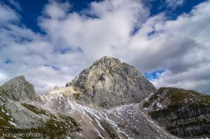 Mangart under the clouds by ivancoric