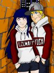 NARUHINA - HipHop style Couple by Okky-RightBrain