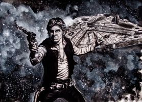 han solo ,Harrison Ford by FDupain