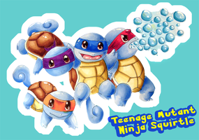 Teenage Mutant Ninja Squirtles by Potatobrown