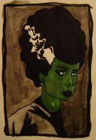 The bride of frankenstein by atomikheart
