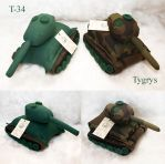 Plush WWII tanks by Victoria-Poloniae