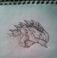 Rathalos Sketch by sessju